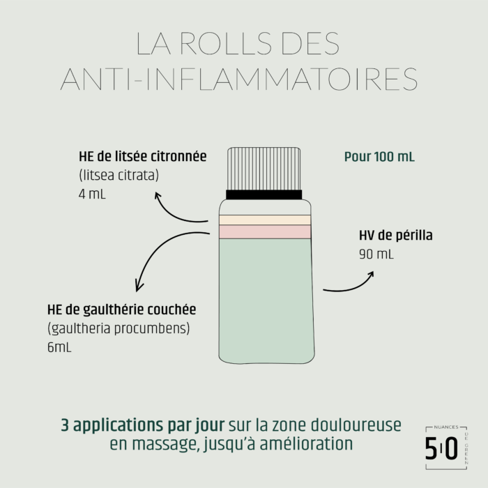 Recette anti-inflammatoire en aromathérapie